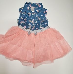 Little Lass baby girl dress set